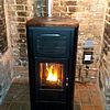 MCZ Red Primula 17kW Hydro Pellet Stove Installed in Devon