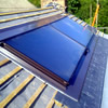 Grant Sahara twin in roof solar thermal panels combined with 300litre twin coil solar cylinder, Somerset